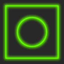 Rendering green with bloom effect