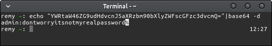 Decoded base64 string