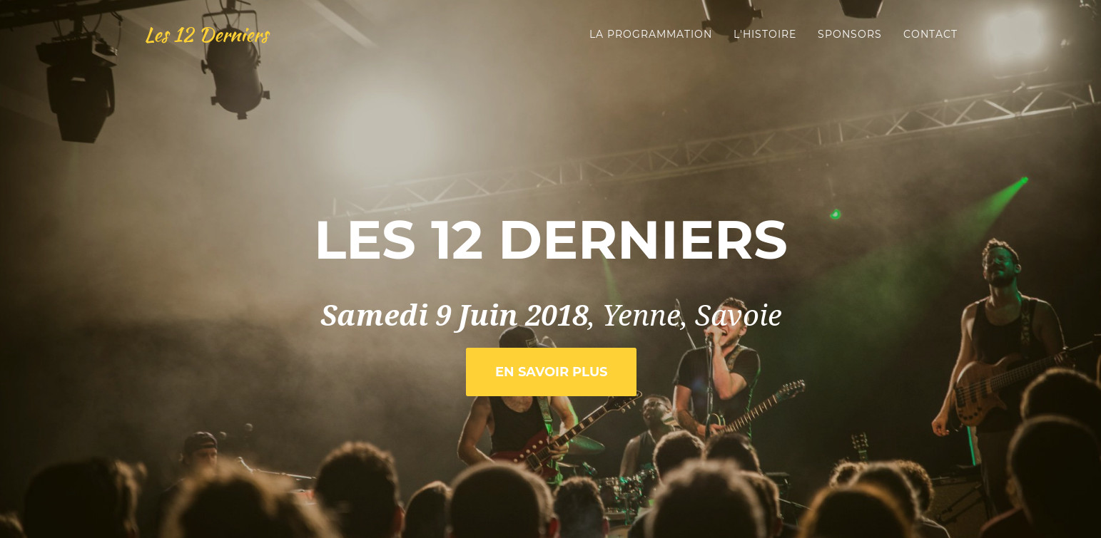 View full size : Homepage of the music festival Les 12 Derniers