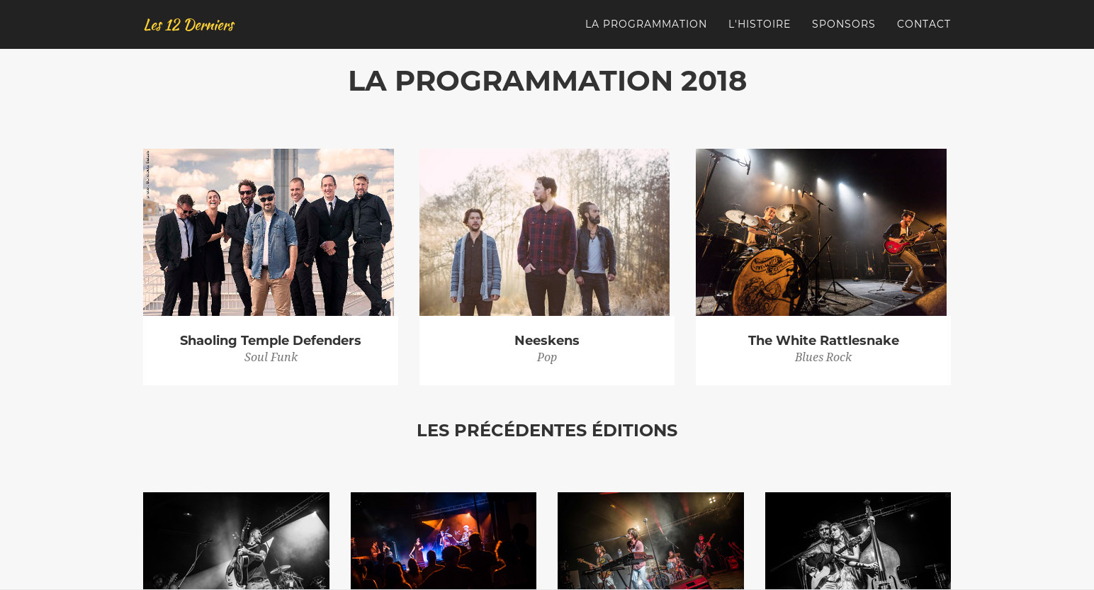 View full size : Programmation of the 2018 shows