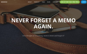 Homepage of Memoiz