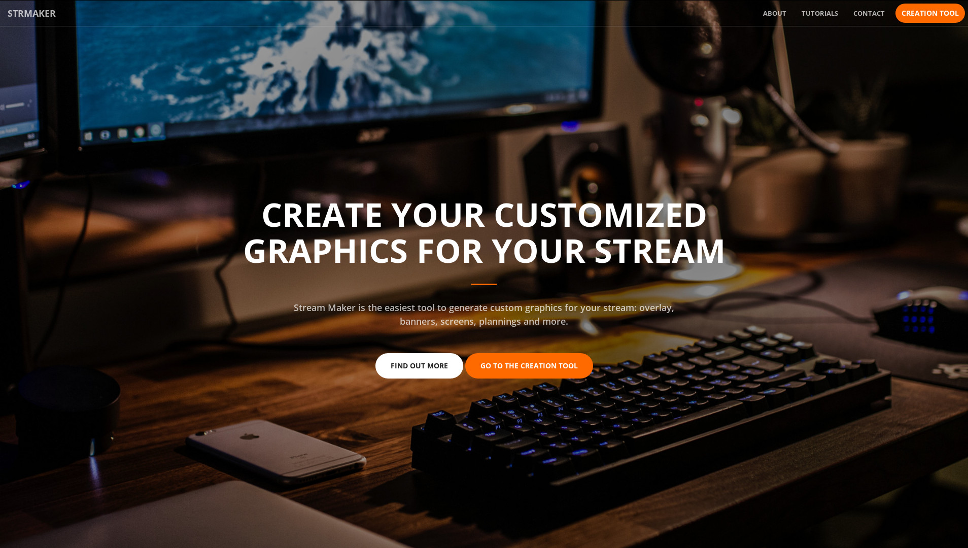 View full size : Homepage of Stream Maker
